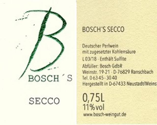 Produkt -Bosch´s Secco